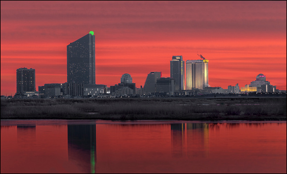Red Sky at Night , Gamblers Delight AC Skyline